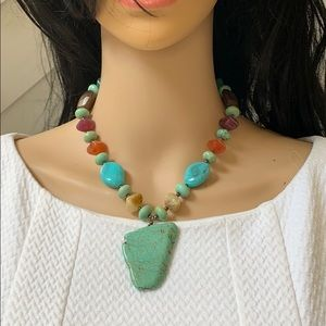 Gorgeous necklace with natural stones